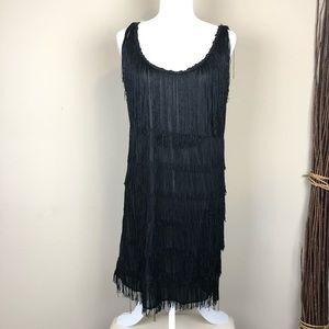 CALIFORNIA COSTUME | Black Flapper Gatsby Dress L